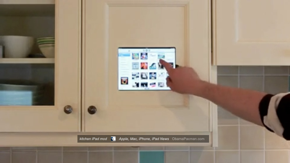 Diy kitchen ipad cabinet mod install for mothers day obama pacman itunes music diy apple kitchen ipad cabinet mod install solutioingenieria Choice Image