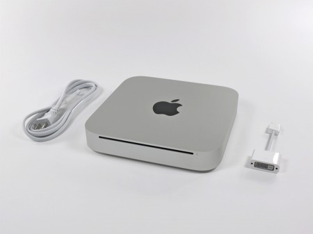 2010 Mac Mini Apple accessories in box, DVI HDMI adapter