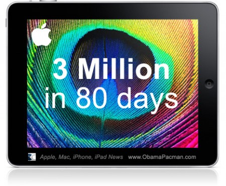 3 Million magical iPad Apple tablet Sold in 80 Days