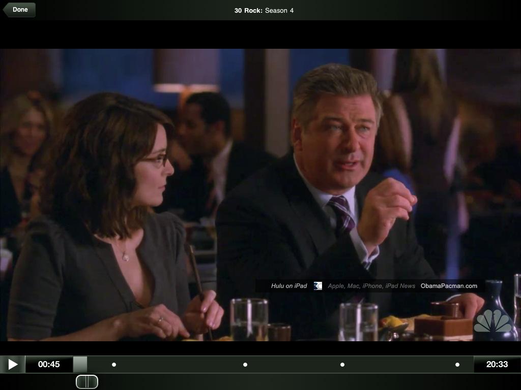 30 Rock season 4, Hulu app Apple iPad | Obama Pacman