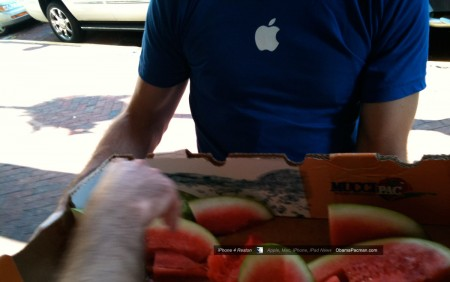 Apple Store Reston, iPhone 4 launch, watermelon