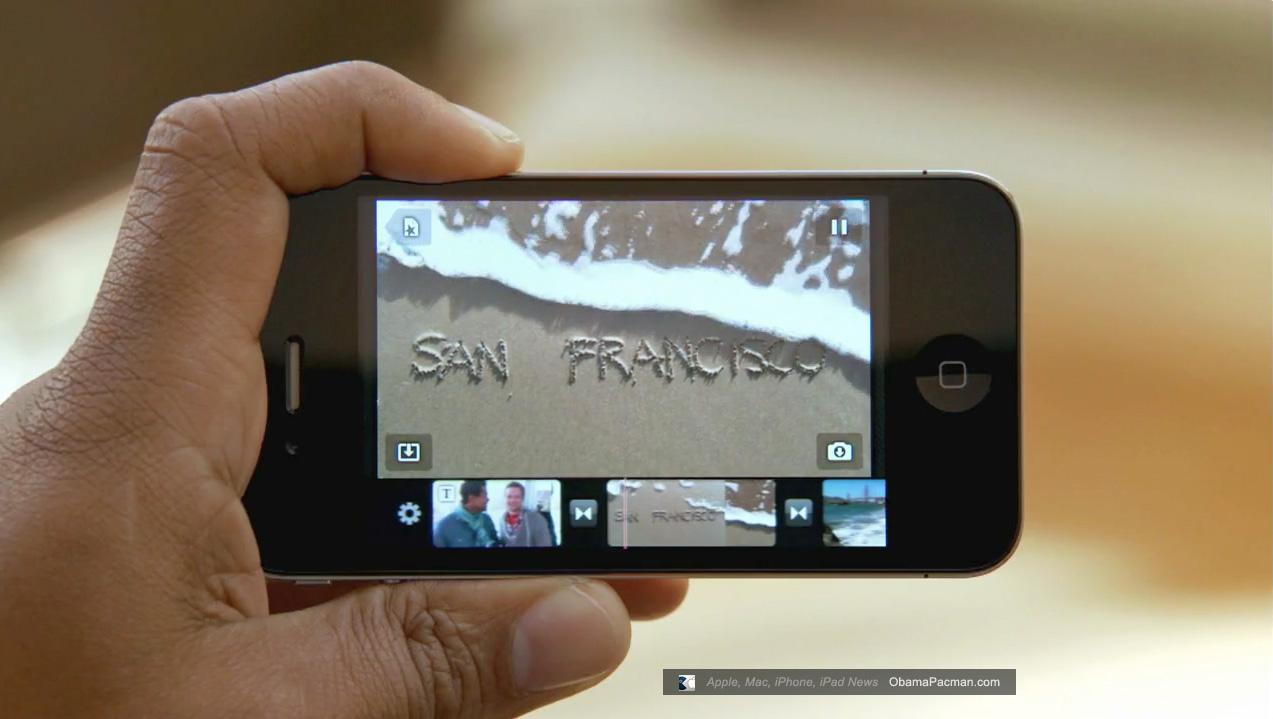 Apple iPhone 4 0 iMovie HD video editing | Obama Pacman