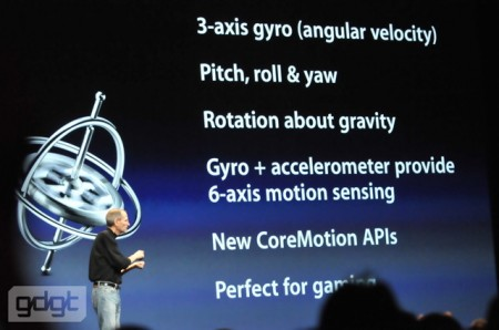Gyro great for gaming, motion sensing, , Apple iPhone 4 with HD video WWDC 2010