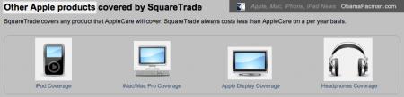 Square Trade covers Apple iPod, iMac, Mac Pro, Cinema Display, Headphones