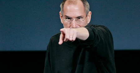 Apple CEO Steve Jobs Points