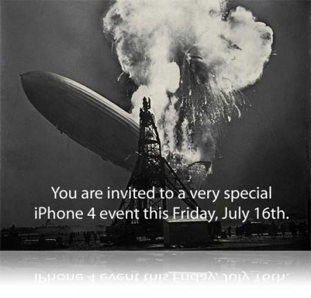 Apple July 16 iPhone 4 press event invitation