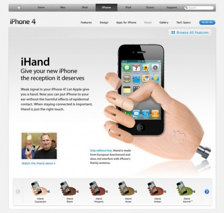 Apple iHand for iPhone 4 Solves Antenna Reception Issues