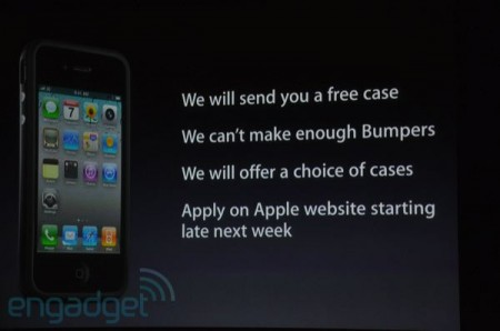 Apple offers Free iPhone 4 Bumper Case for all
