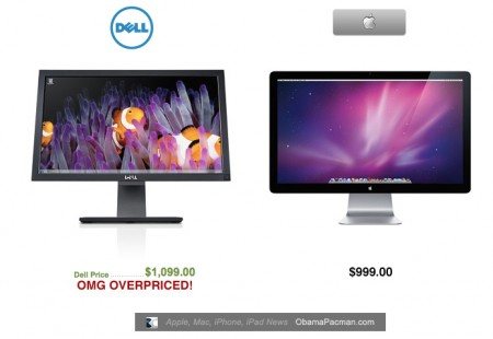 Dell Overpriced, UltraSharp 27 inch monitor, more expensive than Apple Cinema Display