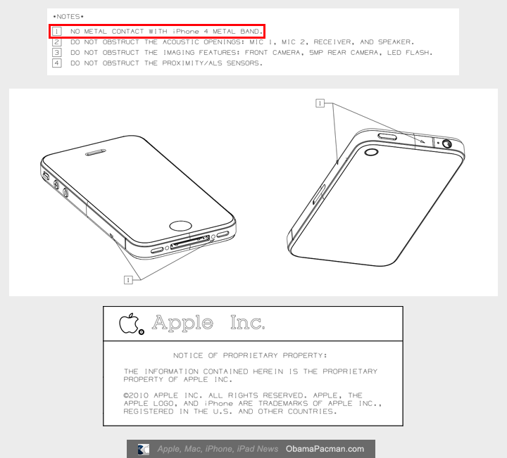 June 25 Apple Diagram No Contact With Iphone 4 Metal Band Obama