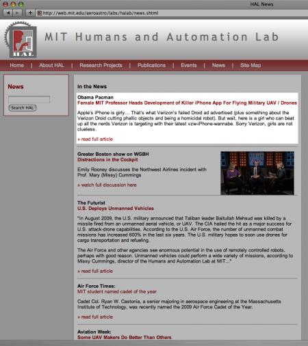 MIT HAL Lab ObamaPacman digg