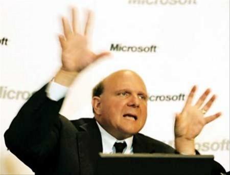 Microsoft CEO Steve Ballmer oh noooes