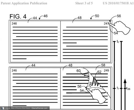 Microsoft Patents iBooks Killer virtual page turn USPTO 20100175018
