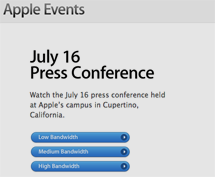 Thumb, Watch Apple July 16 iPhone 4 AntennaGate Press Conference Video