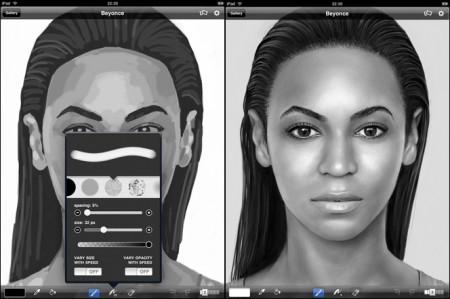 UK Artist Kyle Lambert Makes Beyonce Painting on Apple iPad