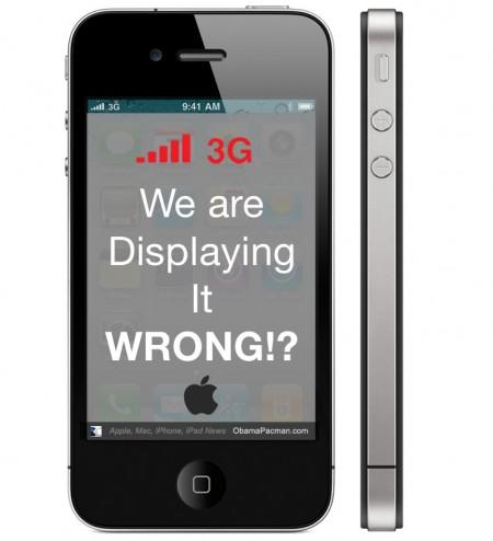 iPhone 4 3g bars, Apple displaying it wrong