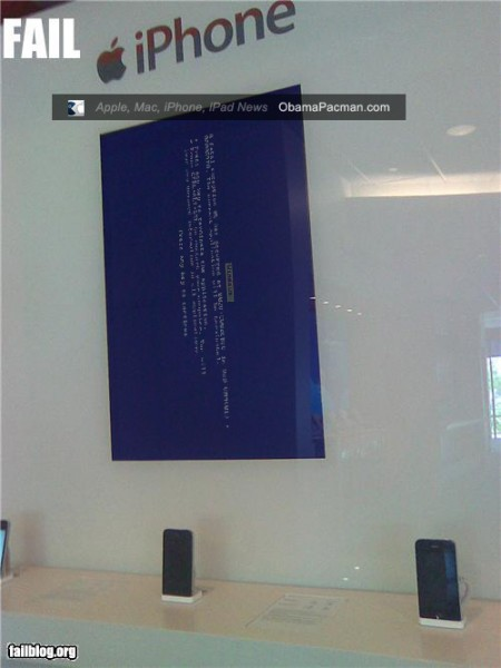 ATT Apple iPhone display fail, Windows BSOD