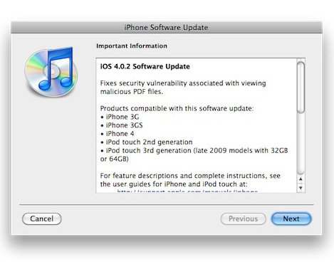 Apple iOS Firmware Download: iPhone iPod touch 4 0 2 iPad
