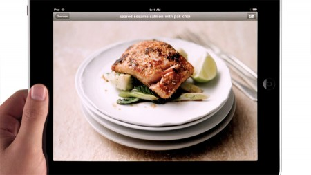 Apple iPad Delicious TV ad, seared seasame salmon