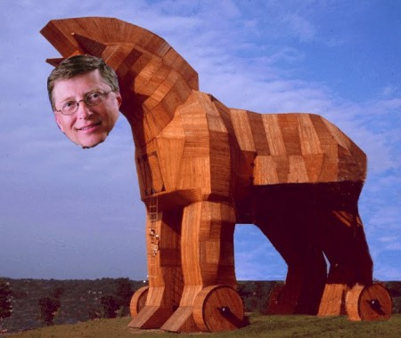 Bill Gates Heads Microsoft PC Trojan Horse
