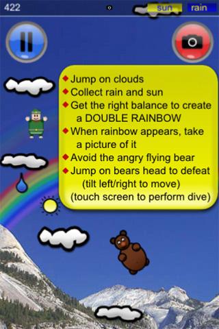 Double Rainbow Apple iOS iPhone, iPod touch, iPad game