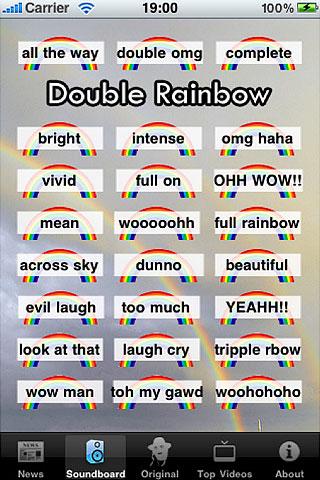 Double Rainbow Soundboard App iPhone, iPod touch, iPad