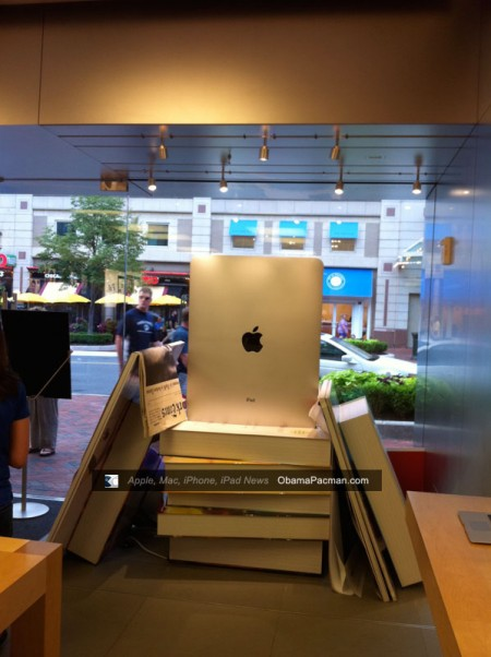 Giant Apple Store iPad back