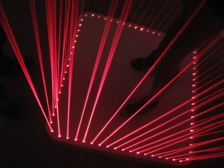 Laser Dancer Pad with Build-in Apple iPod Dock
