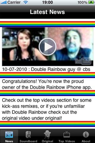 Latest Double Rainbow News, iPhone App
