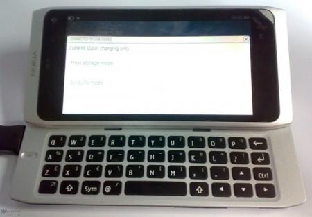 Nokia n9 phone prototype MeeGo OS, copies Apple Mac laptop