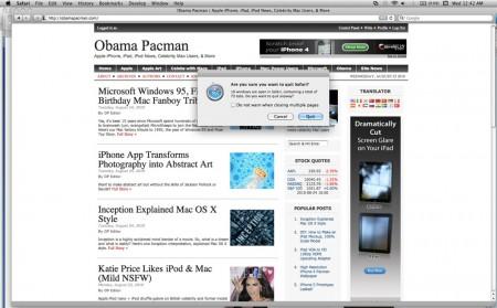 ObamaPacman Apple MacBook Pro Safari 70 plus tabs