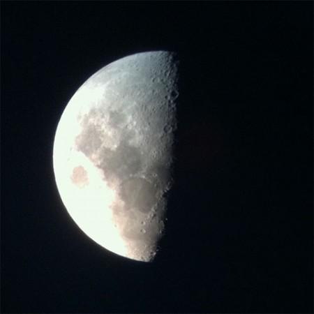 iPhone 4 moon