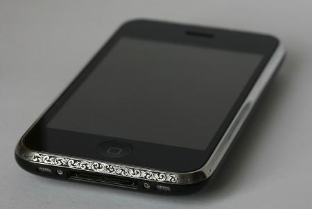 iPhone Hand-Engraving steel bezel Art