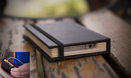 iPhone Moleskin Little Black Book Case, pad and quill