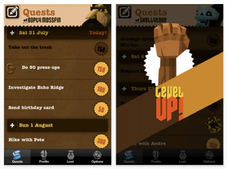 iPhone to-do-list RPG game Make Your Life an EPIC WIN