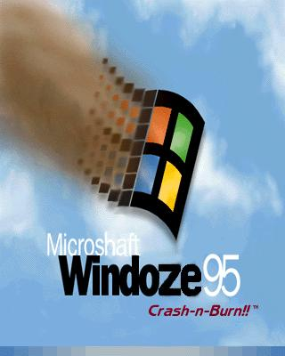 windows 95, Windoze crash and burn