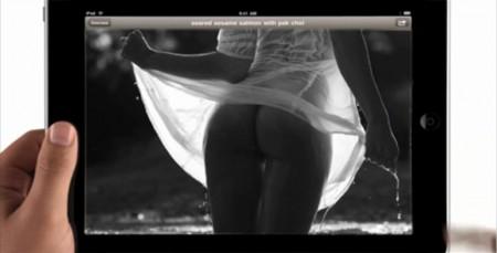 iPad nude arse