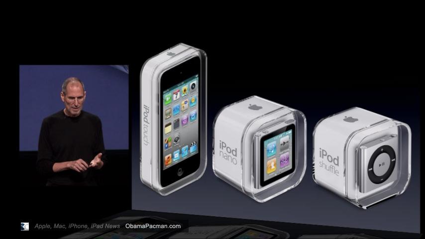 2010 ipod shuffle  nano  touch 4g steve jobs obama pacman iPod Nano Recall Apple iPod Nano 7th Generation