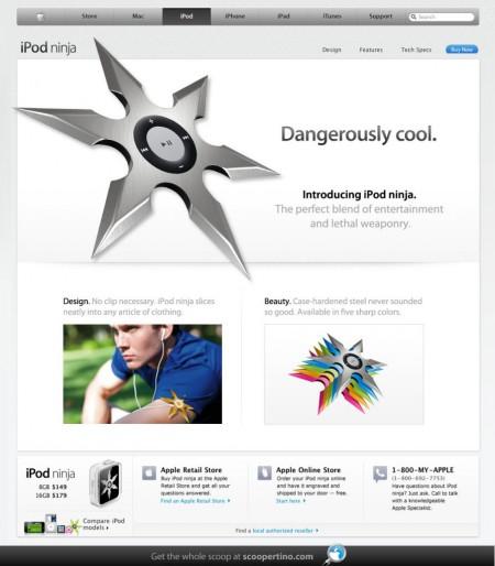 Apple iPod ninja stars, dangerously cool