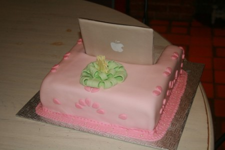 Apple laptop Mac Cake