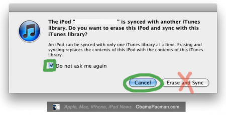 Do not sync iPod, iTunes 10 as dock