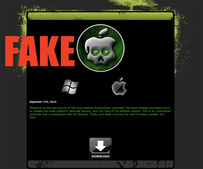 Greenpois0n iOS 4.1 Unthethered Jailbreak Download Released, Real or