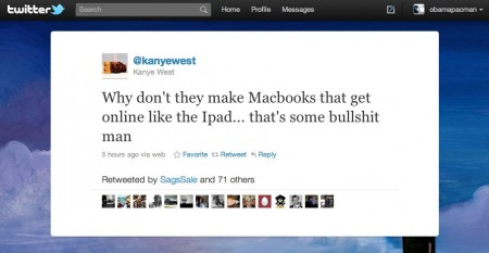 Kanye West Calls Out Apple MacBook vs. iPad Bullshit