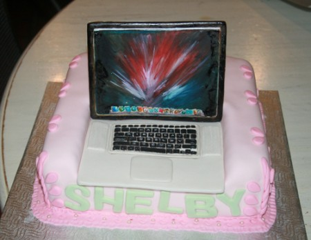 MacBook Birthday Cake