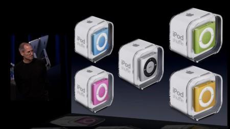 Steve Jobs Apple 2010 iPod shuffle multi-color