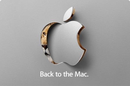 Apple Back to Mac 2010 October 20 special event invitation