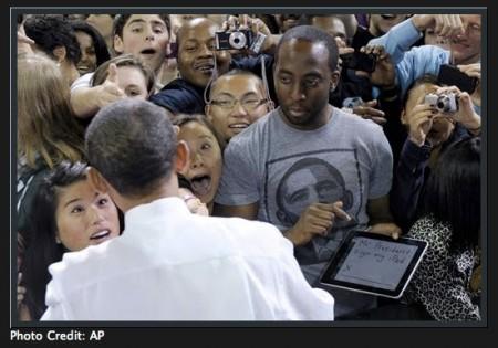 President Barack Obama Signs iPad