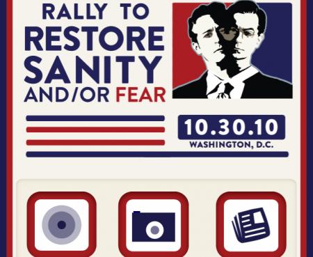 Rally Sanity Fear, Jon Stewart vs. Stephen Colbert iPhone App