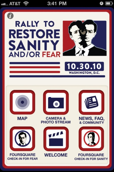 Rally to Restore Sanity, March Keep Fear Alive iPhone App