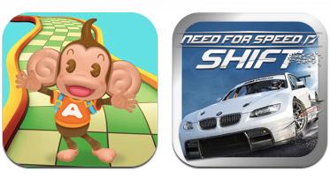 Sega Super Monkey Ball, EA Need for Speed Shift iPhone